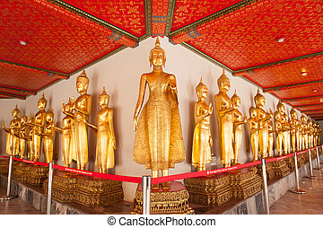 Buddha statue in the temple.