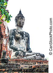 Buddha statue in the temple,Ayuthay