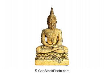 Buddha statue isolate on white