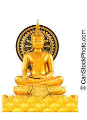 Buddha statue isolated on white