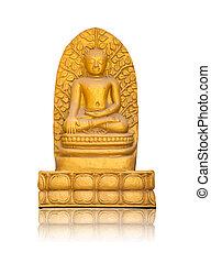 Buddha statue isolated on white background