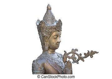 buddha statue isolated on white bac