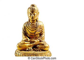 buddha statue on a white background