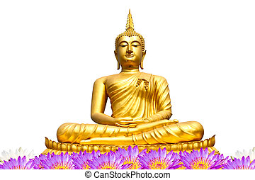 Buddha statue on isolate white