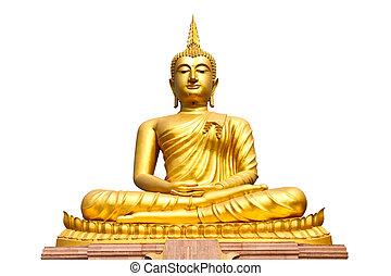 Buddha statue on isolate