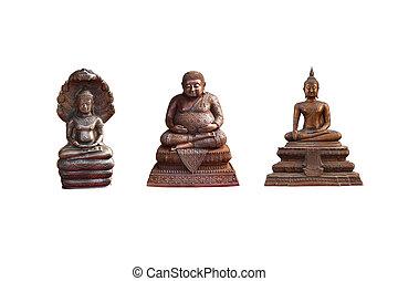 Buddha statue on isolated white