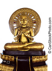 buddha statue on white background - isolated