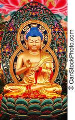 Buddha Statue - Closeup of a Buddha Statue For Singapore...