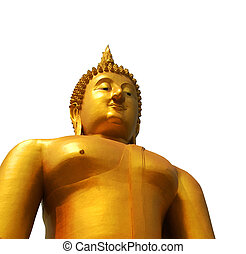 buddha statue with clipping path
