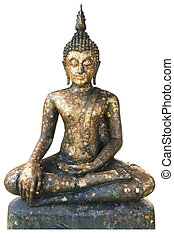 Buddha statue with white background