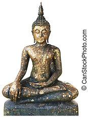 Buddha statue with white background