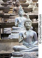 Buddha Statues at Gangaramaya Temple