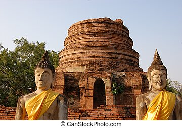 Buddha statues at Wat Putthaisawan, Ayutthaya
