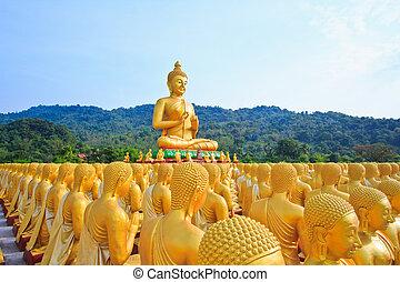 Buddha statues ,  gold buddha, Thailand ,Asia