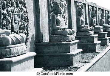Buddha statues in Amaravati ,New capital of Andhra pradesh
