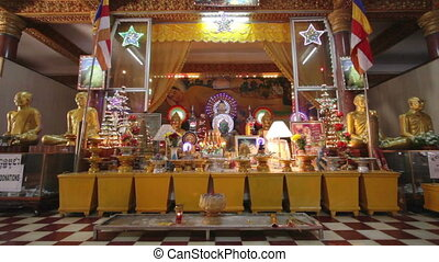 Buddha statues in temple