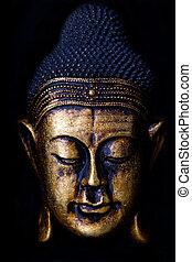 Buddha Status - Statue of the Buddha in Meditation. Focus on...