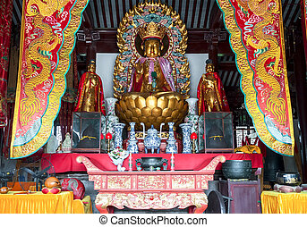 Buddha temple in the village of Zhouzhuang