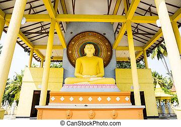 Buddha temple on Sri Lanka, Ceylon