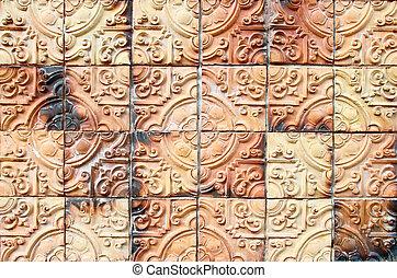 buddha texture tile wall