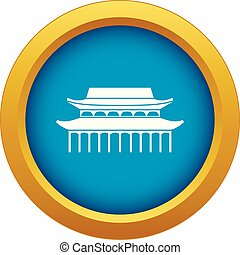 Buddha Toothe Relic Temple in Singapore icon blue vector isolated
