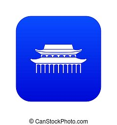 Buddha Toothe Relic Temple in Singapore icon digital blue