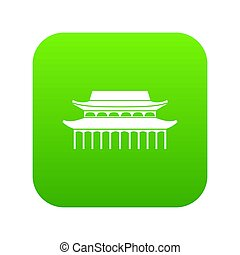 Buddha Toothe Relic Temple in Singapore icon digital green