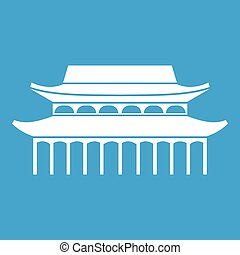 Buddha Toothe Relic Temple in Singapore icon white