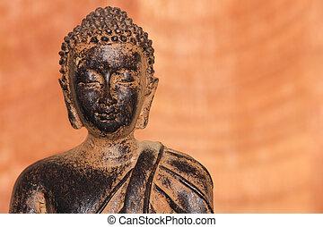 buddha, torso, fundo, calmo
