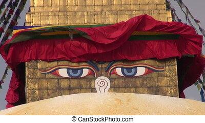 Buddha wisdom eyes of stupa
