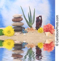 Buddha With Aloe Plant