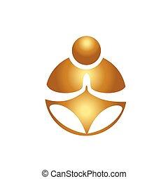 Buddha yoga meditation logo