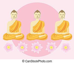 buddhas, 横列