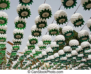 Buddha\\\'s birthday - Lanterns hanging at Bongeunsa temple...