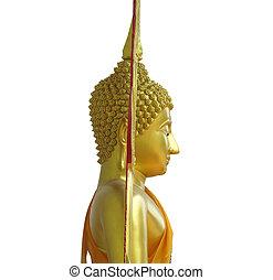 Buddha's side face