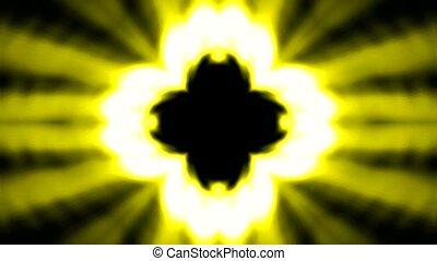 Buddhism lotus flower launch golden rays light, heaven laser.