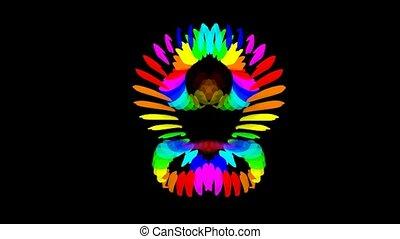 Buddhism lotus Mandala pattern