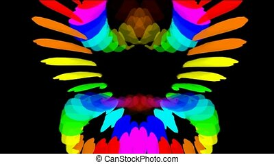 Buddhism lotus Mandala pattern,color peacock feather...