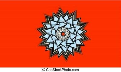 buddhism lotus mandala, retro flower