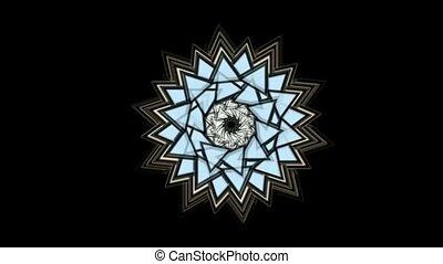 buddhism mandala, retro lotus flower