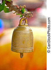 buddhist bell - small buddhist bell hanging to worship.
