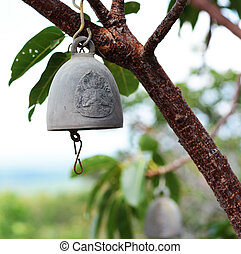 Buddhist bell. Tap to good fortune.