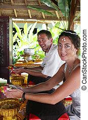 Buddhist ceremony.