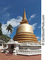 Buddhist dagoba (stupa) in Golden Temple, Dambulla, Sri ...
