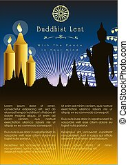 Buddhist Lent Artwork Template. Vector and illustration, EPS...