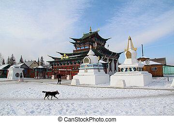 Buddhist Monastery - The Buddhist Ivolga Monastery in...