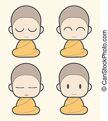 Monk cartoon - Buddhist Monk cartoon