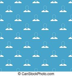 Buddhist monk pattern seamless blue