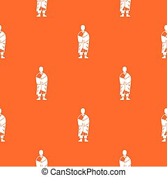 Buddhist monk pattern seamless