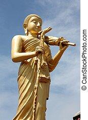 Buddhist monk statue